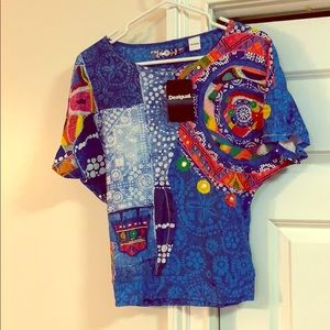 Desigual blue top for Girls